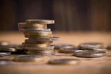 Onlinekredit mit Sofortzusage; Euromünzen