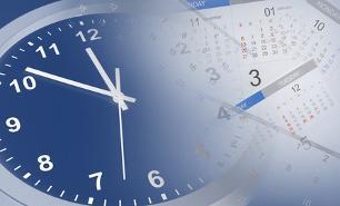 Onlinekredit mit Sofortzusage; Uhr und Kalender
